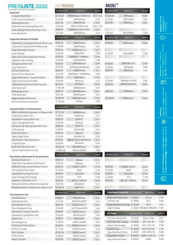 MegaGen Pricelist 2021